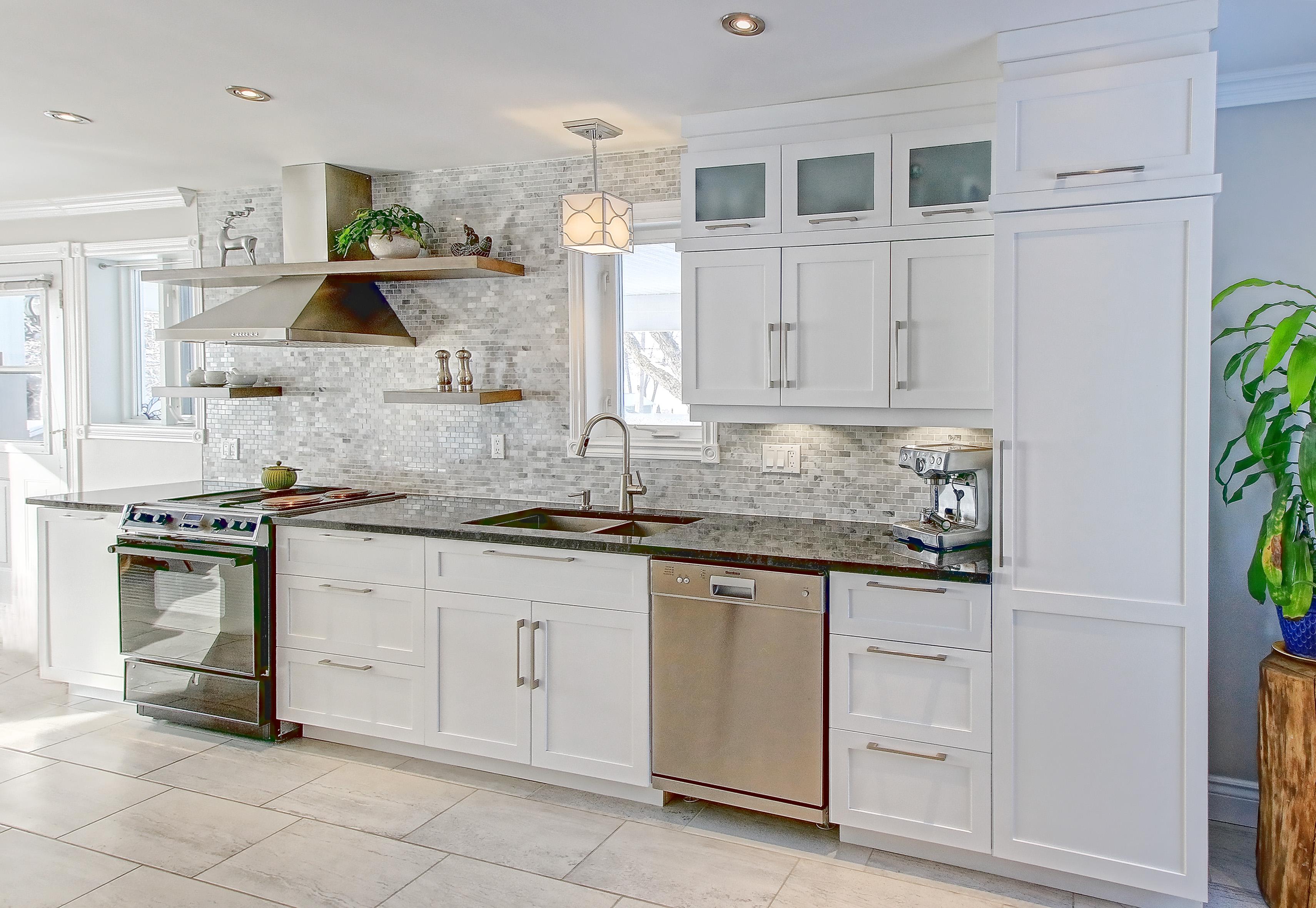 intemporelle cuisine blanche cuisines michel rathier. Black Bedroom Furniture Sets. Home Design Ideas